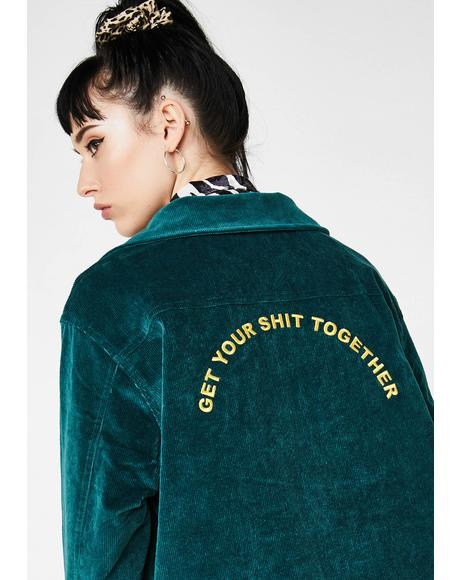 Get Your Shit Together Corduroy Jacket