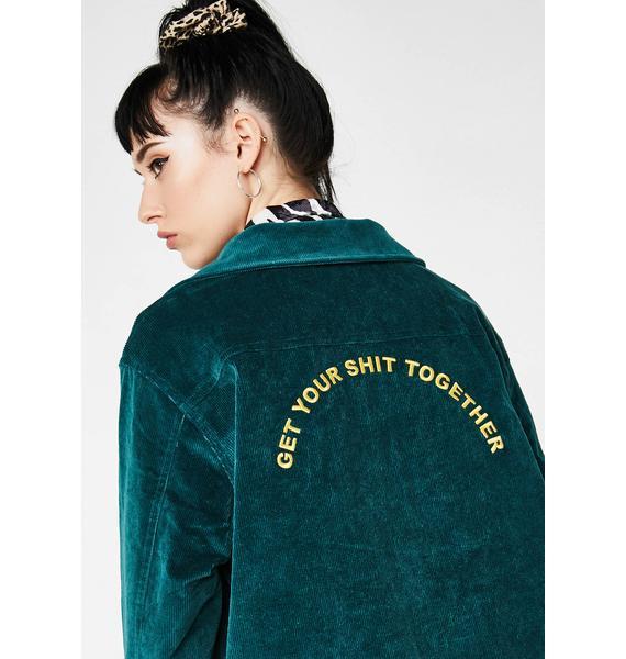 Lazy Oaf Get Your Shit Together Corduroy Jacket
