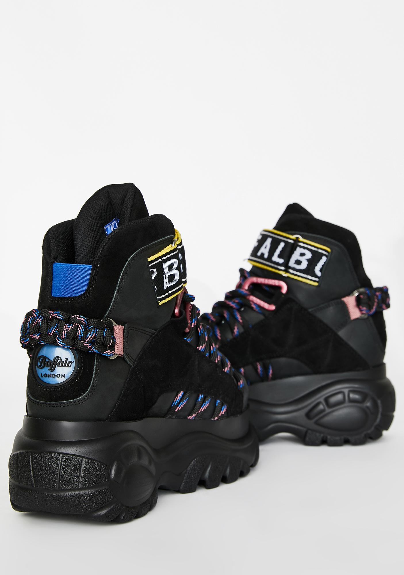 Buffalo London Classic Retro High Suede Sneakers