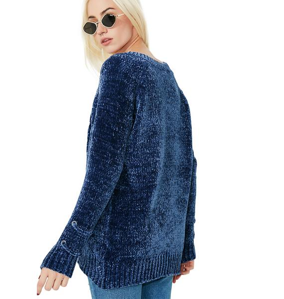 Both Sides Like Chenille Sweater
