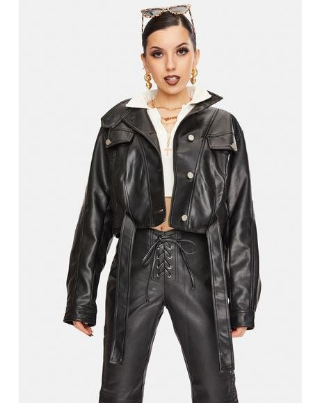 Bella Vegan Leather Jacket