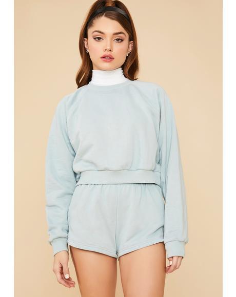 Calling Crazy Elastic Waist Shorts