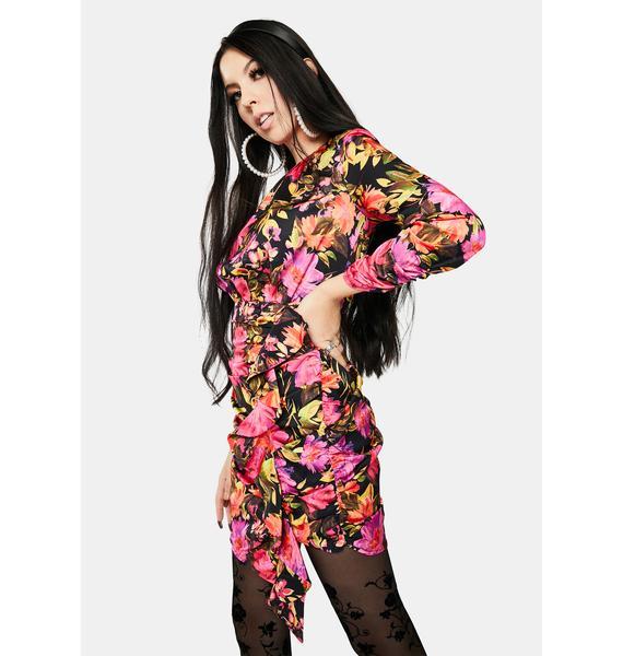 For Love & Lemons Dakota Long Sleeve Mini Dress