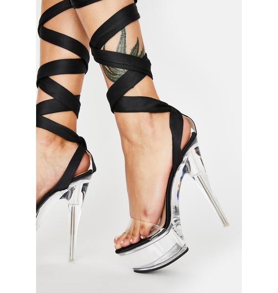 AZALEA WANG Lumpur Platform Wrap Heels