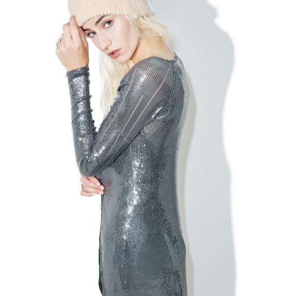Indah Kit Sequined Duster Jacket