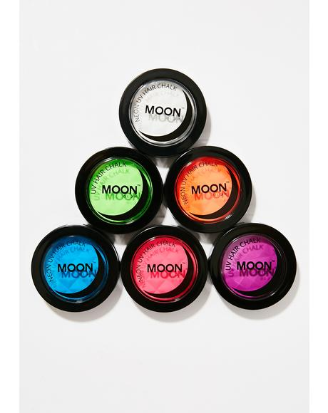 Neon Intense Green UV Hair Chalk