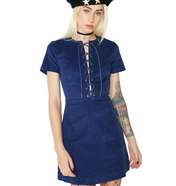 Racing Hearts Lace-Up Dress