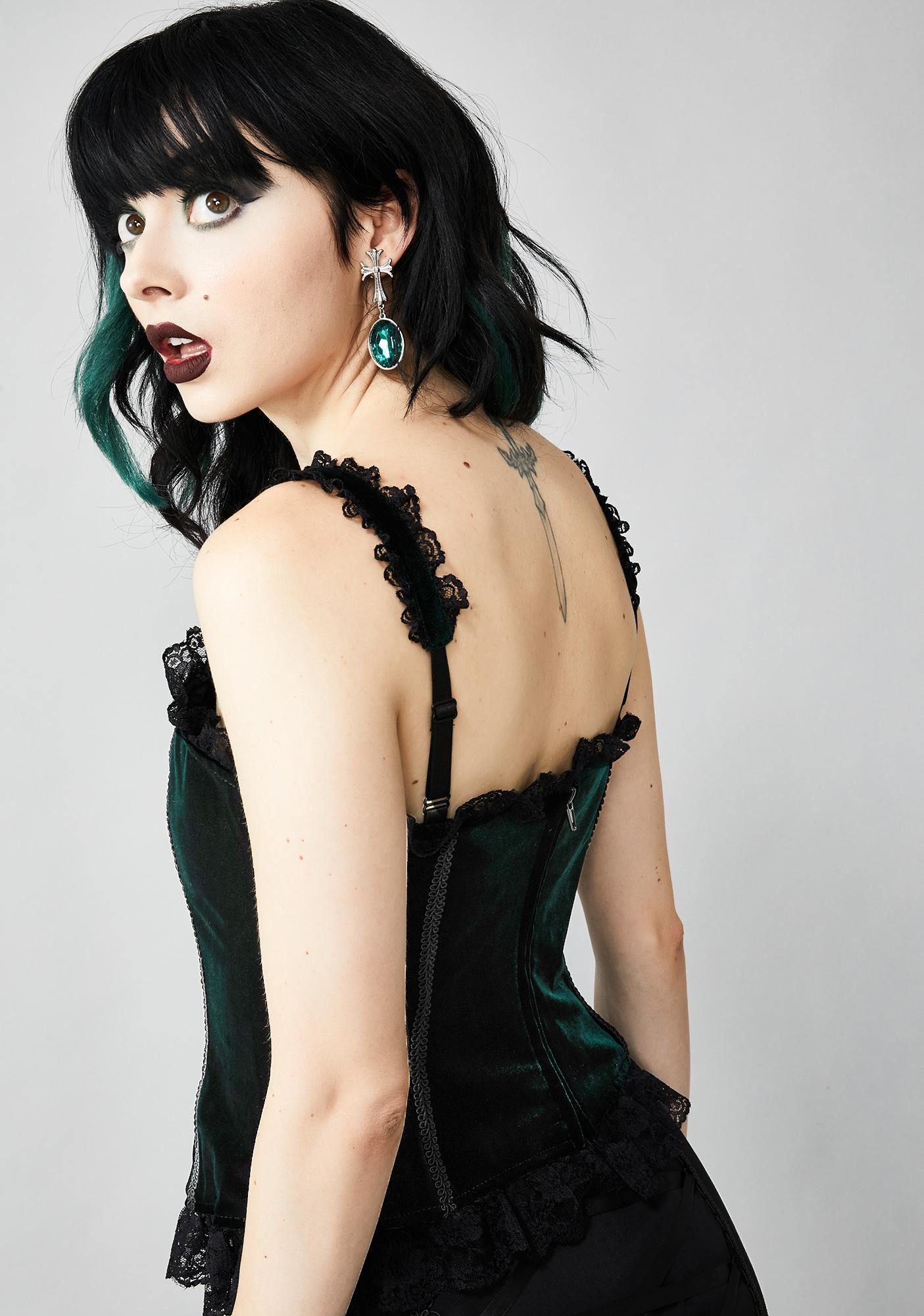 Widow Earthly Sermon Velvet Corset