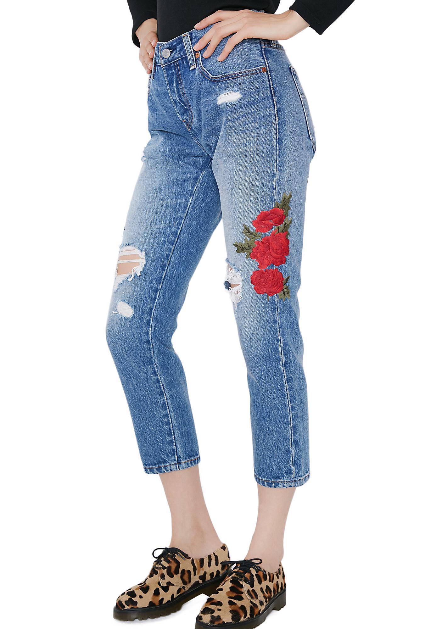 69d462c0 Levis Cropped Taper Jeans | Dolls Kill