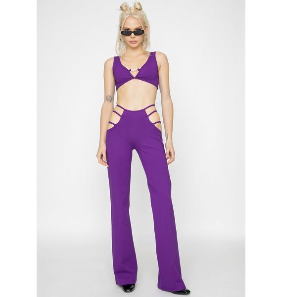 I AM GIA Purple Lucid Top