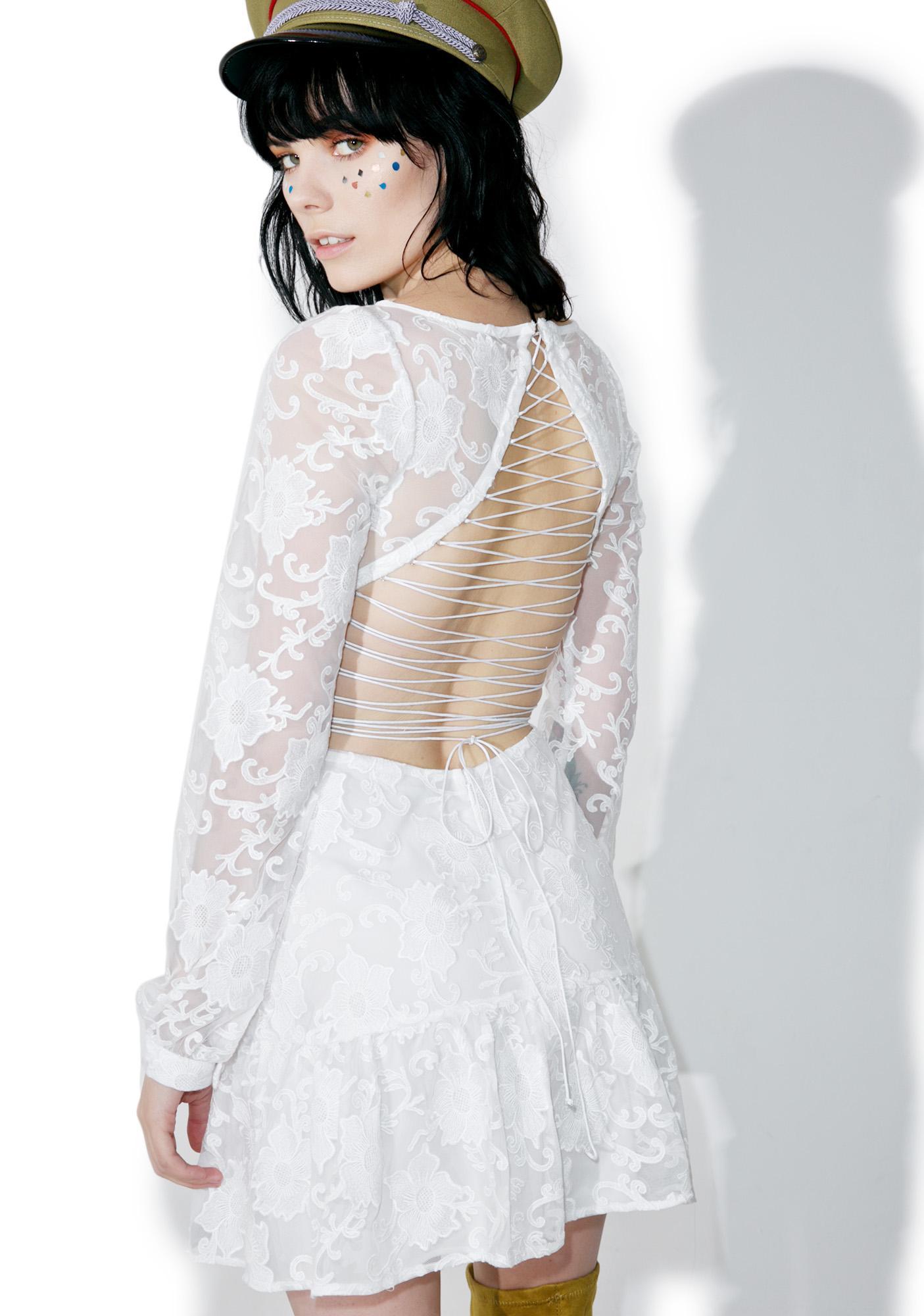 For Love & Lemons Pure Jolene Lace-Up Dress