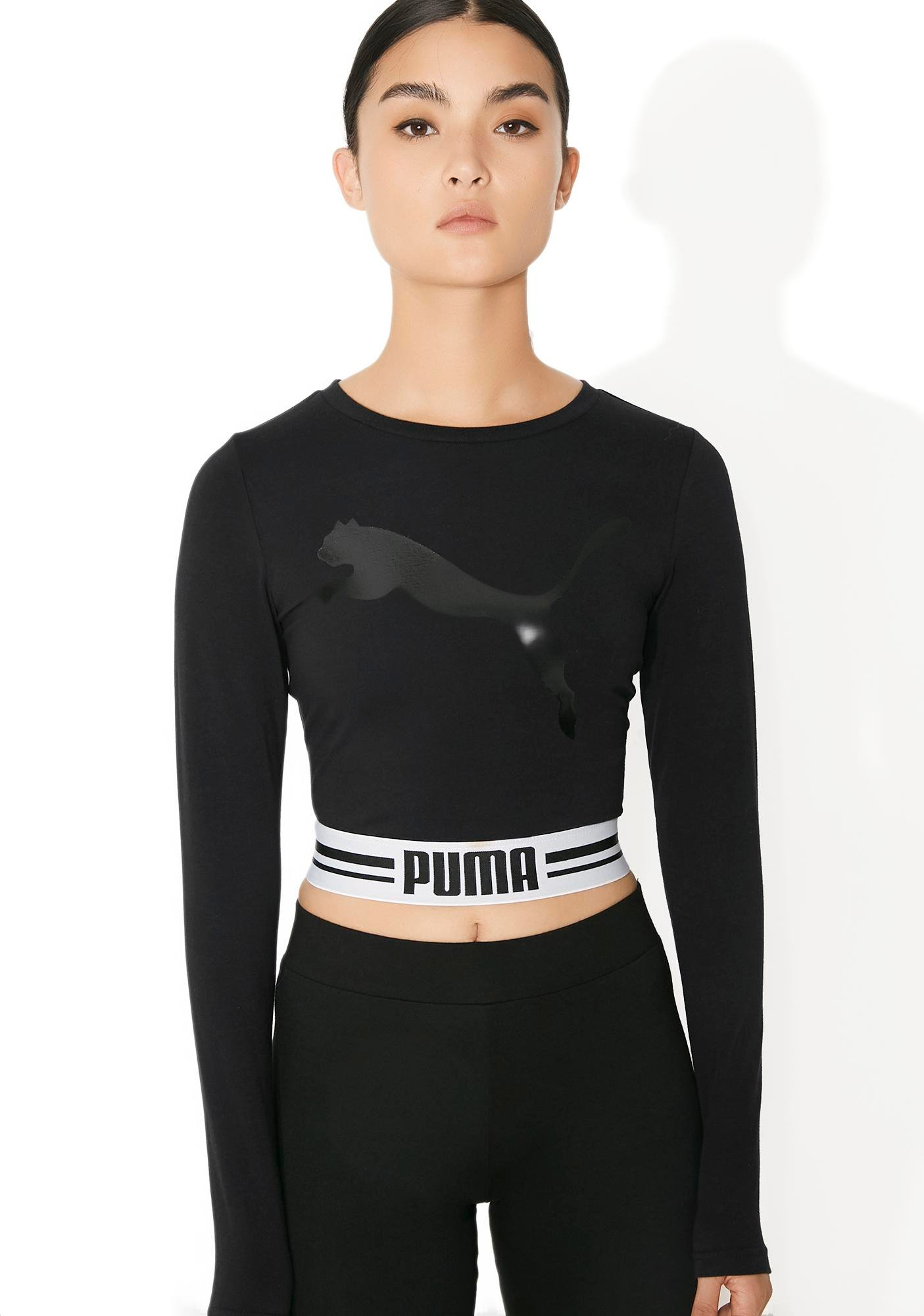 PUMA Fly Cat Long Sleeve Cropped Tee