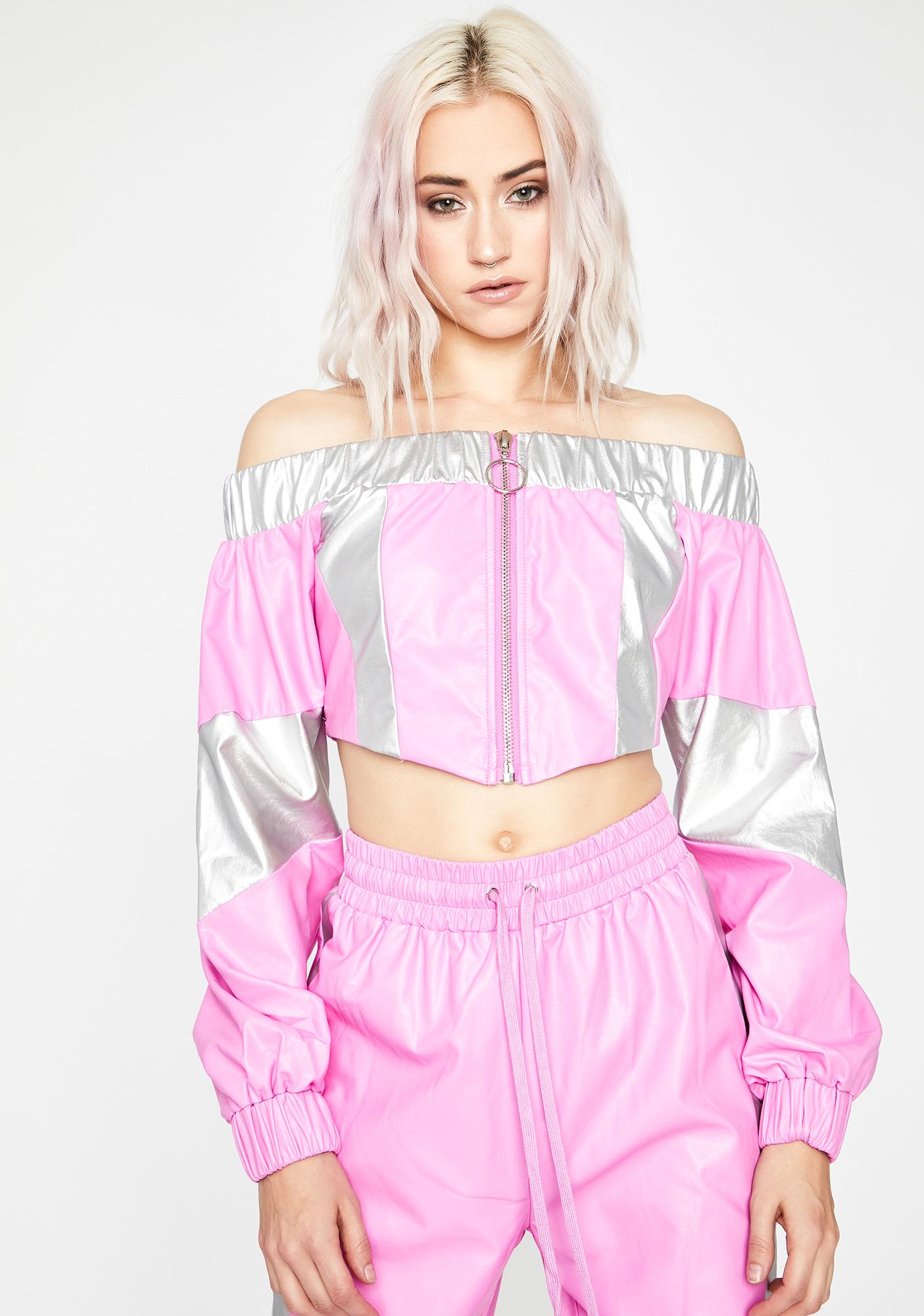 Sugar Lonely Road Off The Shoulder Top