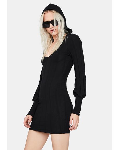 Dark Horse Hooded Mini Dress