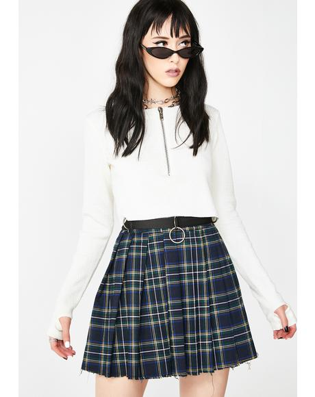 Dress Code Plaid Skirt