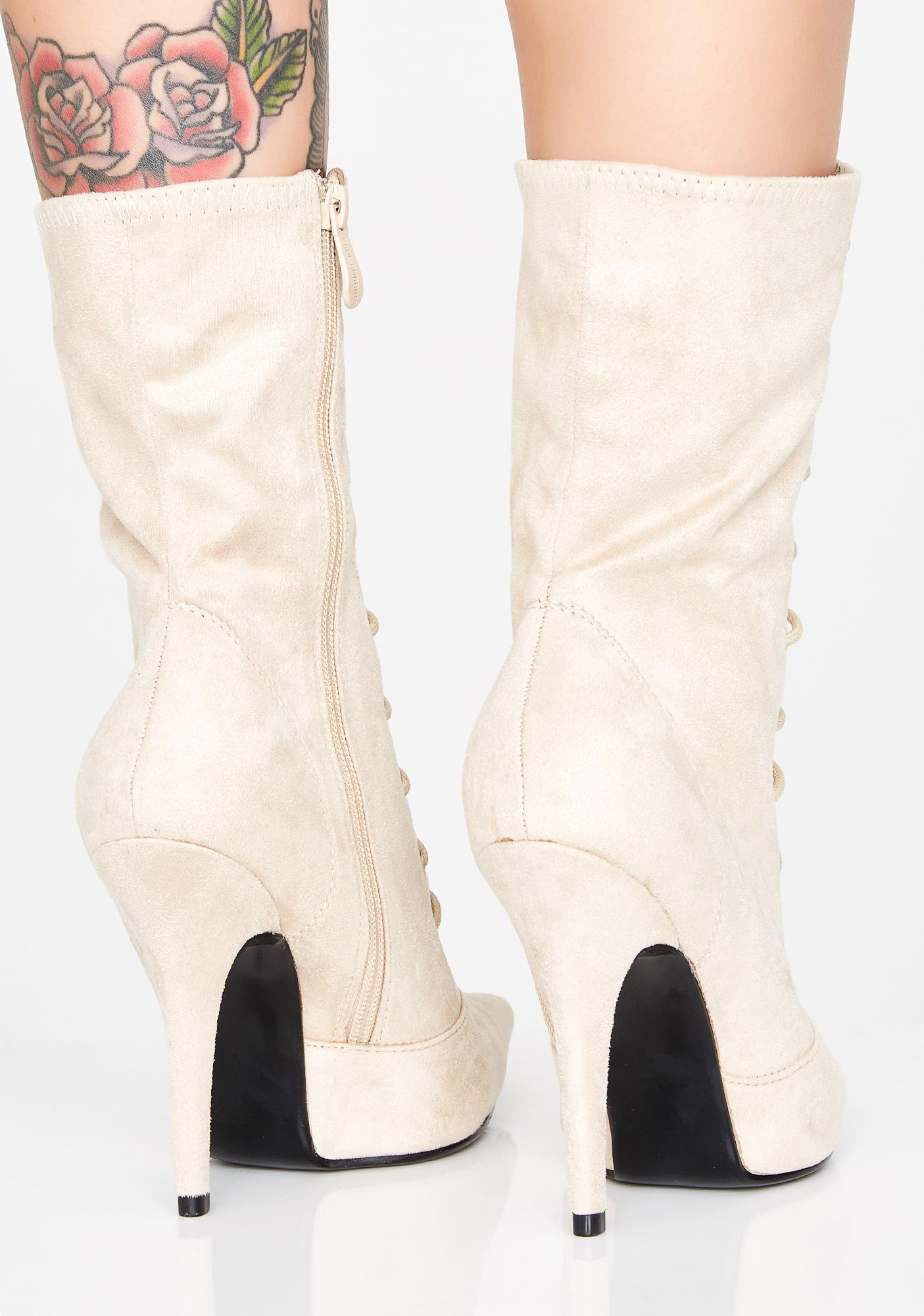 Made For Walking Lace Up Booties