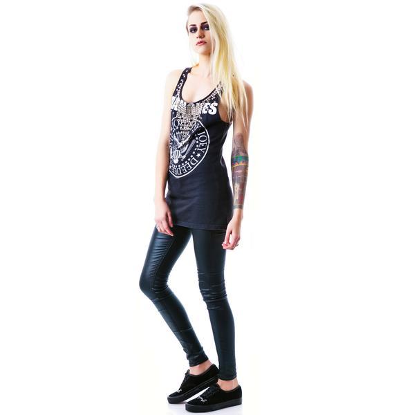 Hazmat Design Ramones Necklace Stud Rock Tank