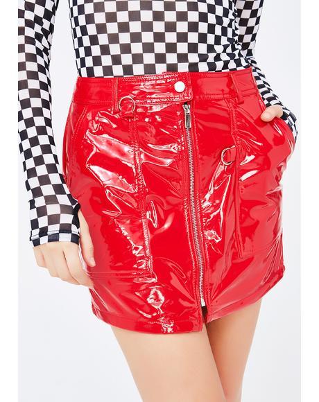 Always In Danger Vinyl Skirt