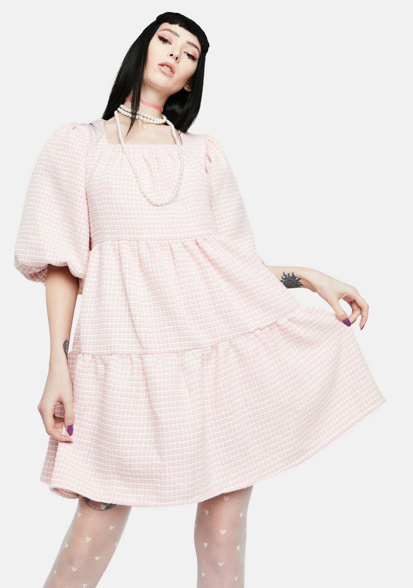Sister Jane Rosy Knees Tweed Confetti Dress