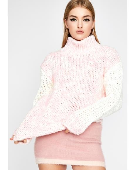 Candy Cloud Turtleneck Sweater