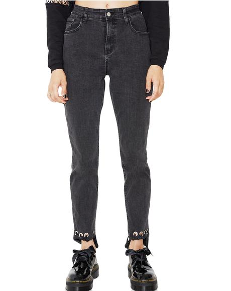 On Edge Grommet Denim Jeans