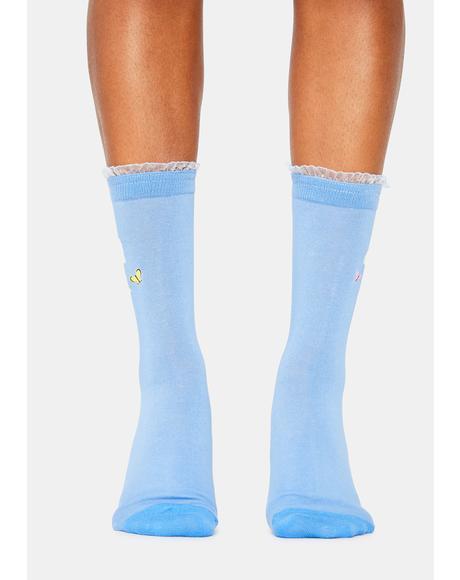My Soft Spot Lamb Crew Socks