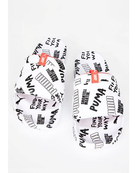 X Shantell Martin Leadcat Graphic Sandals