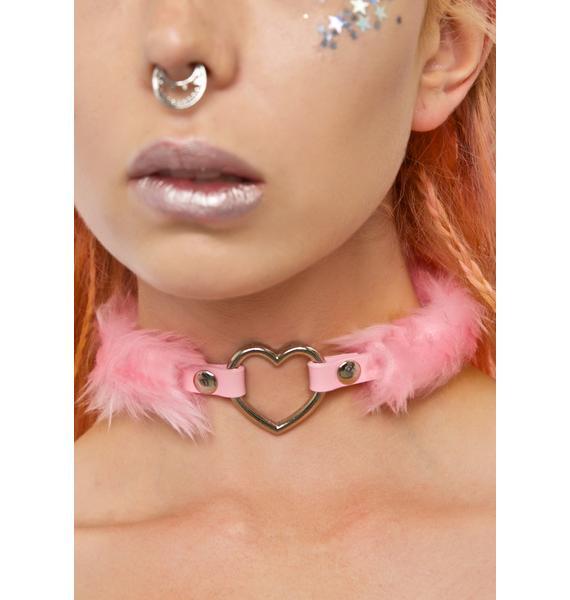 Kerenika Coco's Heart Faux Fur Choker
