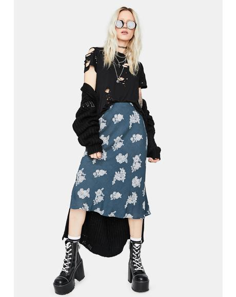 Storm Just Friends Floral Midi Skirt