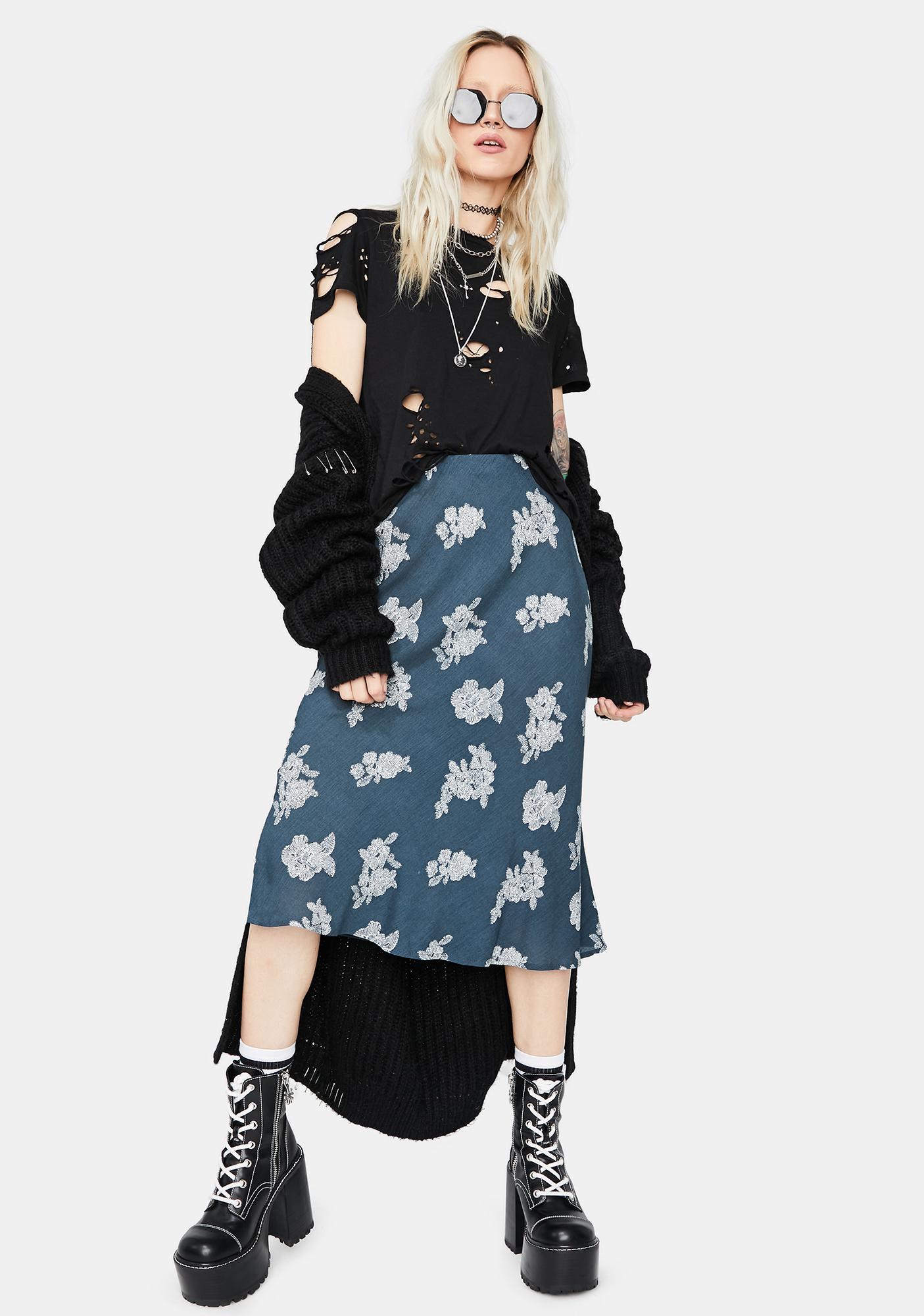 Storm Just Friends Floral Midi Skirt