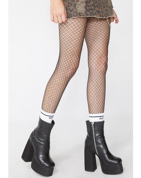 Diamonds For Daze Fishnet Tights