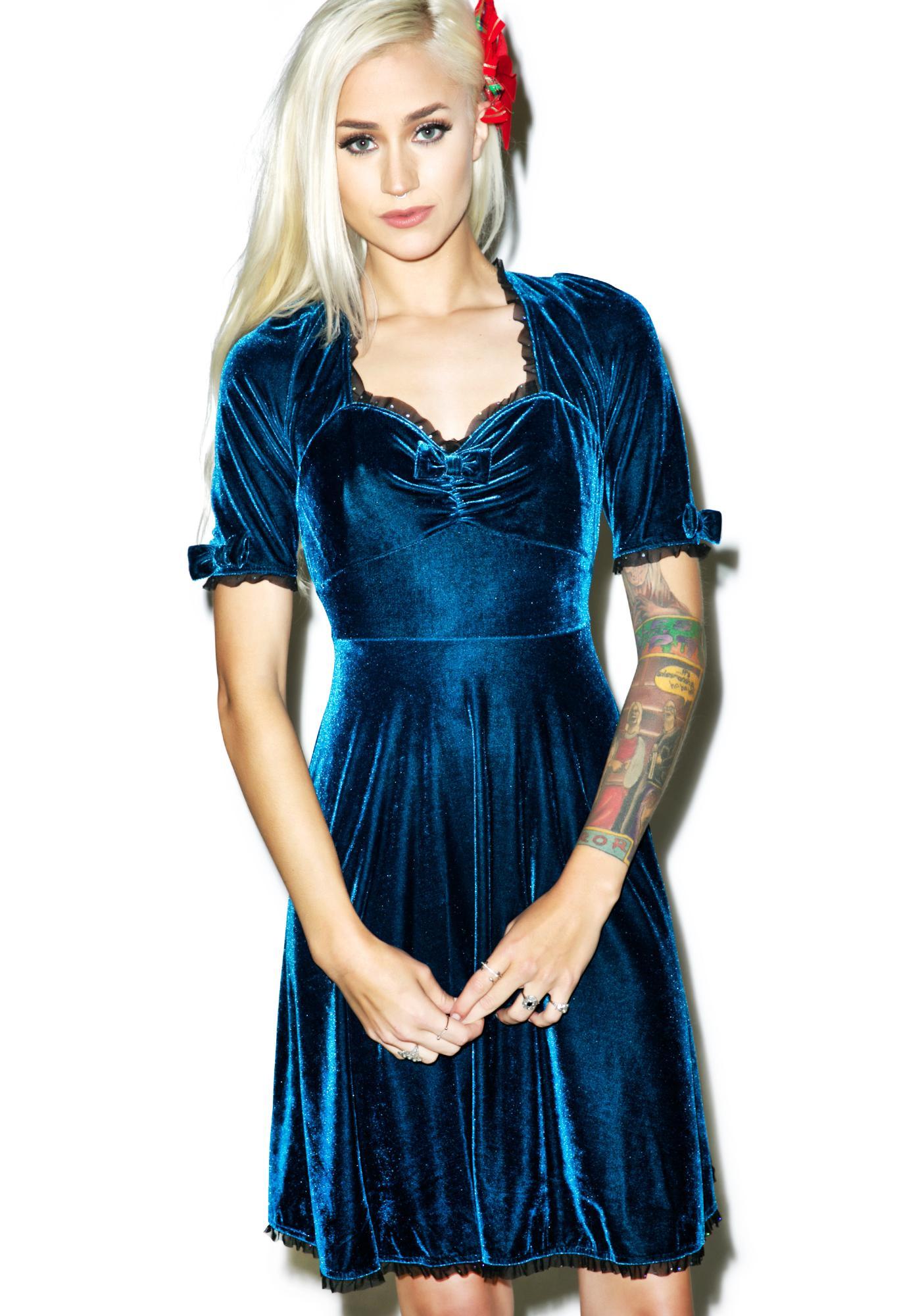 Sourpuss Clothing Velvet Vivienne Dress