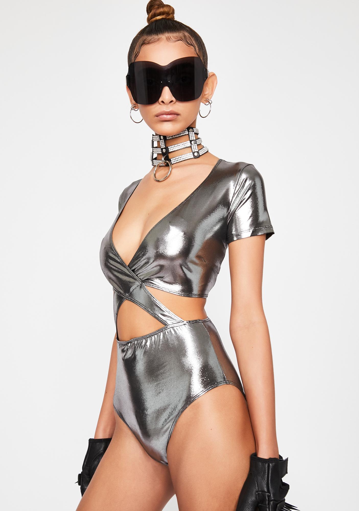 Magnetic Trance Metallic Bodysuit