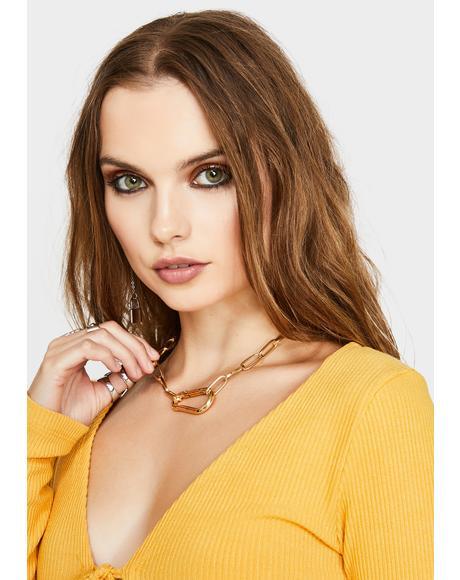Golden Handy Dandy Chain Necklace
