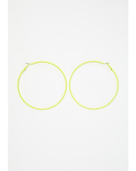 Neon Litez Hoop Earrings