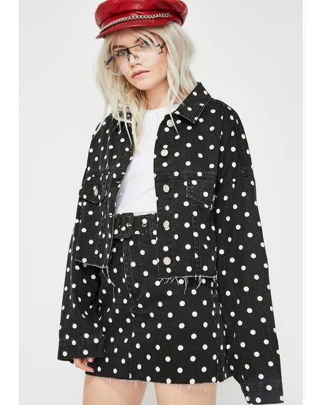 Dark Sugar Town Polka Dot Jacket