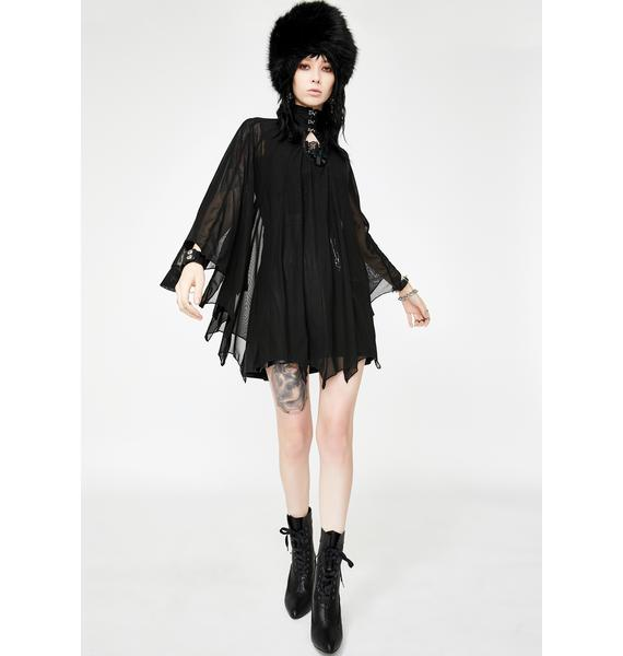 Necessary Evil Cybele Bat Wing Dress