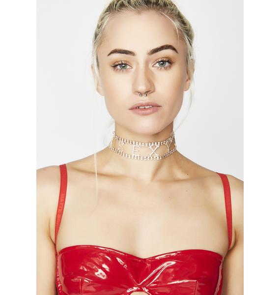Too Sexy Rhinestone Choker