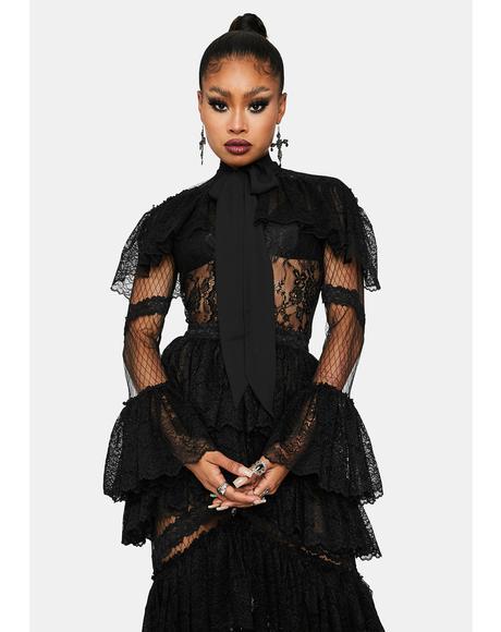 Vampire Ball Layered Lace Dress