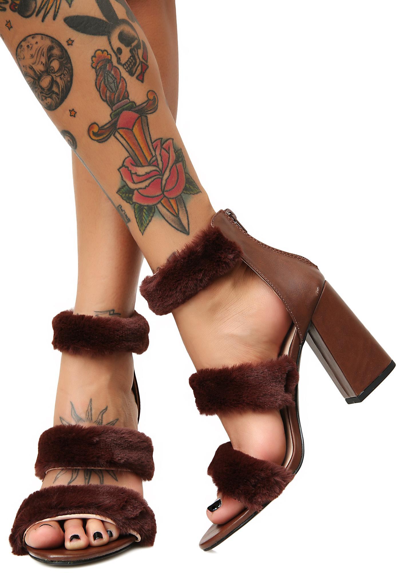 Feel My Power Fuzzy Heels