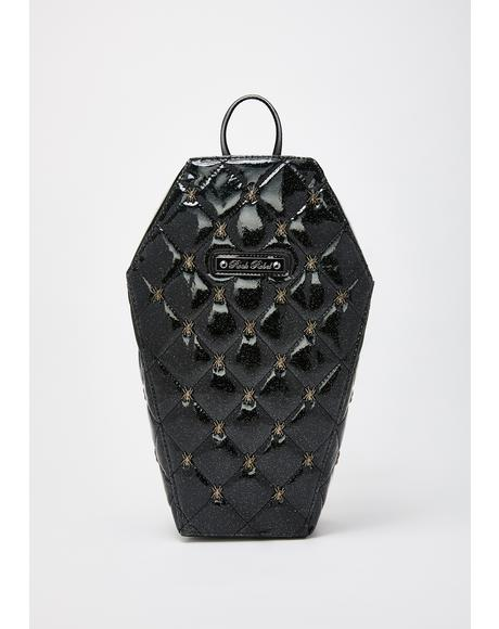 Lucy Quilted Coffin Backpack