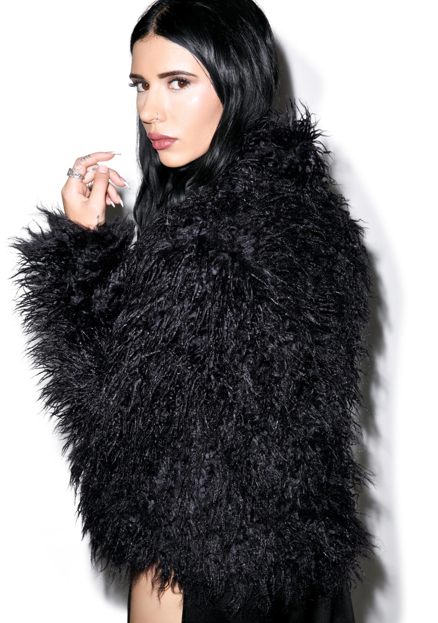 Lip Service Night Song Faux Fur Jacket | Dolls Kill