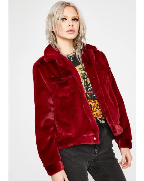 How You Feel Faux Fur Jacket