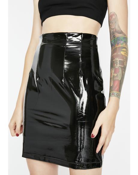 Vinyl Spank Skirt