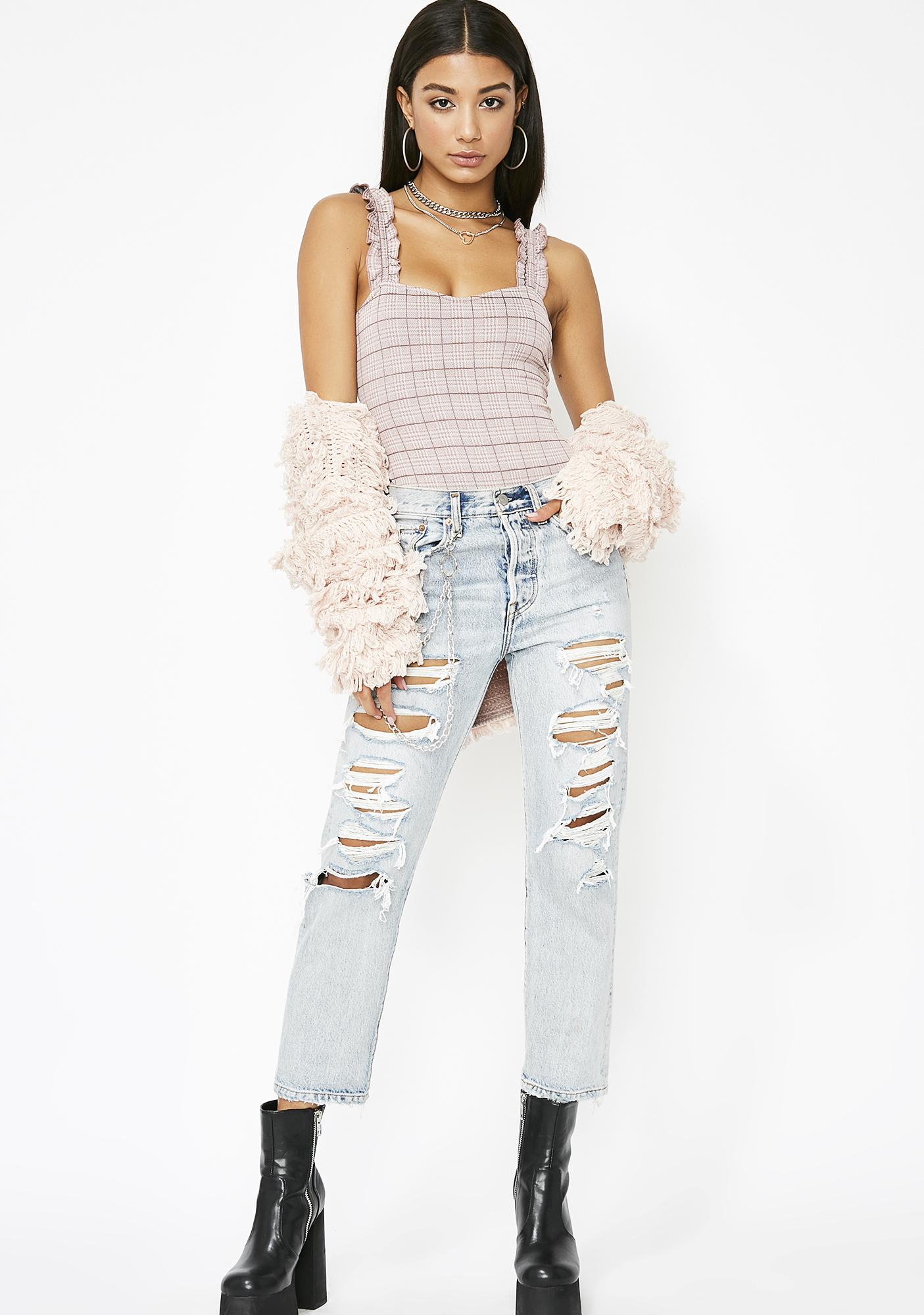 Sweet Delightful Smiles Ruffled Bodysuit