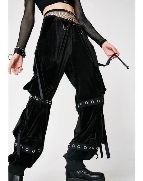 Velour Cargo Pants
