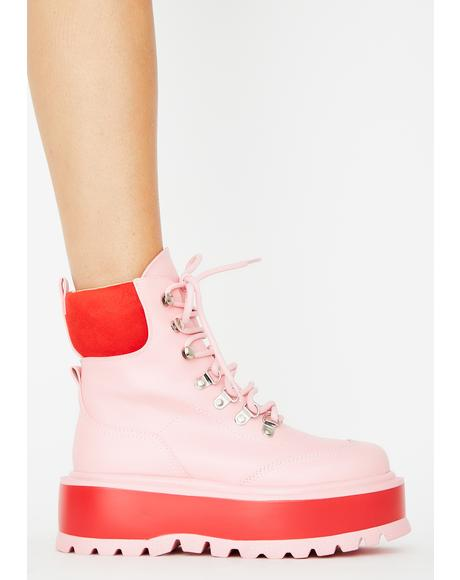 Light Pink Hydra Platform Boots
