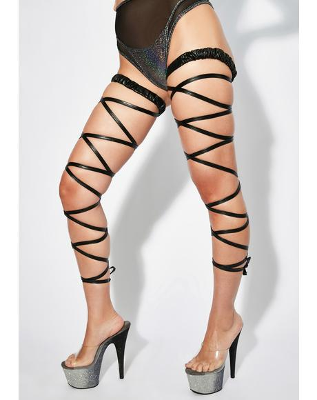 Mystic Dance Trance Metallic Leg Wraps