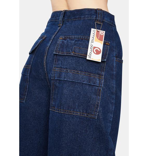 Criminal Damage Blue Boardwear Jeans
