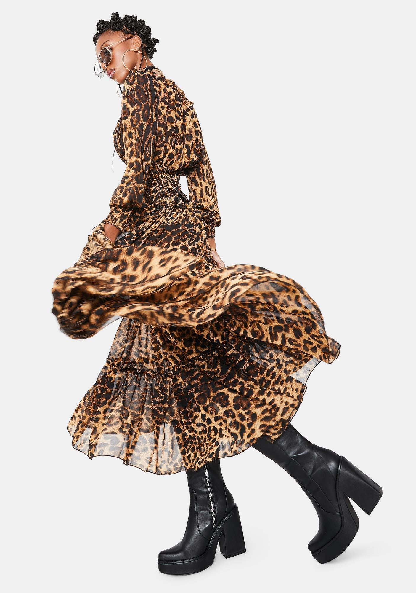 Kiki Riki Heiress Hours Off Shoulder Maxi Dress